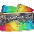 TOMS Tie Dye Shoes - Summer Fashion Staple - BRIGHT colors - hand dyed and custom made by One Great Thing