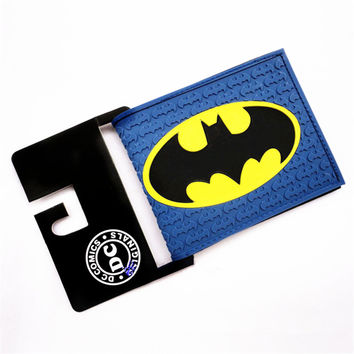 New 2015 Brand Wallet DC Comics Superhero Batman Purse Mimco Women Wallet Carteira Feminina Bailini Men Wallet Free Shipping