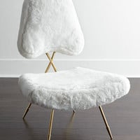 Maxime Shearling Lounge Chair