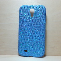 For Samsung Galaxy S4 Light Blue Glitter Case