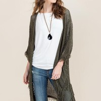 Emily Fringe Hem Sweater Wrap