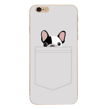 Gray Dog Case Cover for iPhone 6 6s Plus iPhone 7 7plus + Gift Box-461
