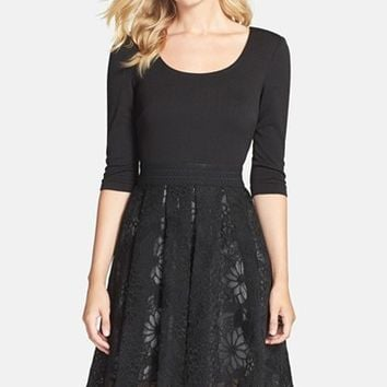 Women's Plenty by Tracy Reese 'Eliza' Embroidered Organza Overlay Fit & Flare Dress,