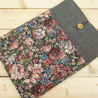Floral MacBook sleeve 13, MacBook Pro 13 sleeve, MacBook Air 13 Case, MacBook Pro 13 Retina case, MacBook 12 case, MacBook Air 11 case
