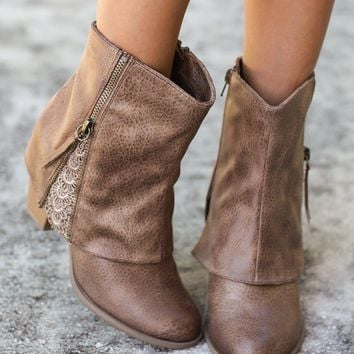 Summer Taupe Booties