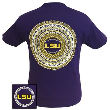 Louisiana LSU Tigers Preppy Mandala T-Shirt