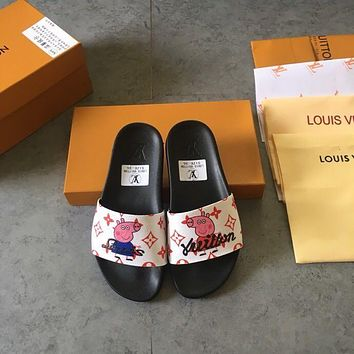 Louis Vuitton Lv Men And Women Cloth Slippers-6