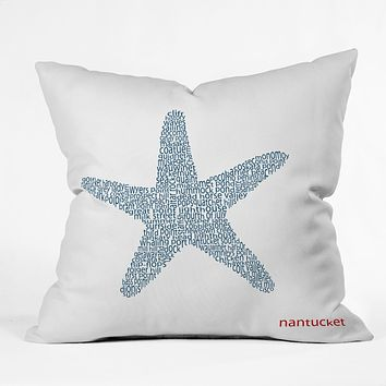 Restudio Designs Nantucket Starfish Throw Pillow