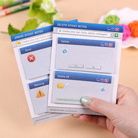 60 Pages Set Cute Computer System Shape Memo Pad Diy Sticker Diary Stationary Set Kawaii Stickers Post It Office Supplies