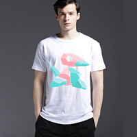 Strong Character Cotton Stylish Creative Summer Fashion Short Sleeve Tee Men's Fashion Casual T-shirts = 6451656323