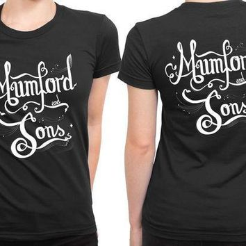 ESBH9S Mumford And Sons Title Typography Fan Art 2 Sided Womens T Shirt