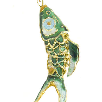 Large Articulated Fish Charm