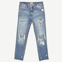 MID - RISE BOYFRIEND JEANS-View All-JEANS-WOMAN | ZARA United States