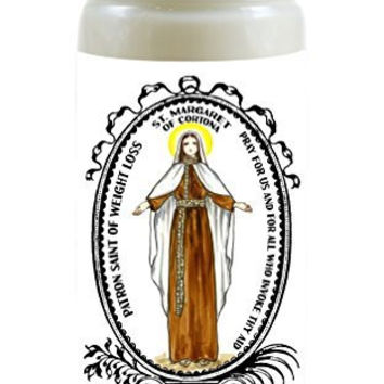 Saint Margaret of Cortona for Weight Loss 8 Ounce Scented Soy Prayer Candle