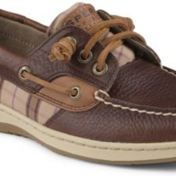 Sperry Top-Sider Ivyfish 3-Eye Boat Shoe Tan/TanPlaid, Size 5.5M  Women's Shoes