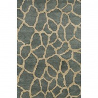 Momeni Serengeti Teal Novelty Rug - SG-04TEL - Blue and Purple Rugs - Area Rugs by Color - Area Rugs
