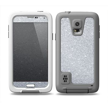 The Silver Sparkly Glitter Ultra Metallic Skin for the Samsung Galaxy S5 frē LifeProof Case