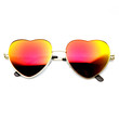 Cute Womens Girls Heart Shape Metal Sunglasses With Flash Revo Lens 9436