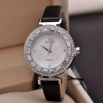 Awesome Trendy Good Price New Arrival Great Deal Gift Designer's Fashion Rhinestone Stylish Ladies Quartz Watch [4919937348]