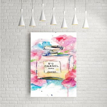 CHANEL PERFUME BOTTLE ARTWORK POSTERS