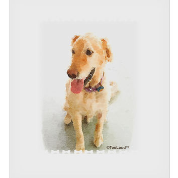 "Golden Retriever Watercolor 9 x 10.5"" Rectangular Static Wall Cling"