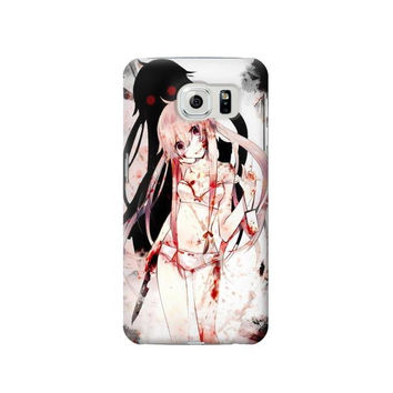 P2002 Mirai Nikki Future Diary Gasai Yuno Phone Case For Samsung Galaxy S6 edge