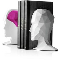 Knowledge in the Brains Bookends by Menu