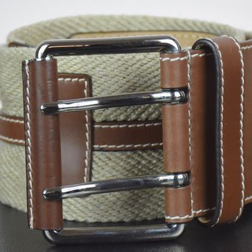 Michael Kors Women's Made In Italy Woven Wide Leather Belt Size S MINT