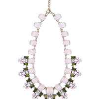 Pink crystal stone necklace