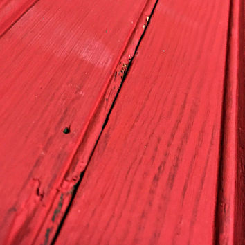 Bright Red Repainted Beadboard