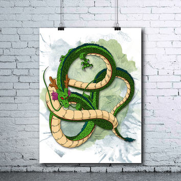 Shenron - Dragon Ball Z - Shenron Poster - Shenron Print - DBZ - Dragon Ball Z Posters - Dragon Ball Z Prints - DBZ Printables - Shenron