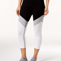 Calvin Klein Performance High-Rise Capri Colorblocked Leggings | macys.com