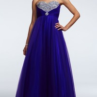 Strapless Tulle Prom Dress with Jeweled Detail - David's Bridal