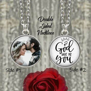 God Gave Me You Necklace - Wife Gift - Girlfriend Gift - Gift for Her