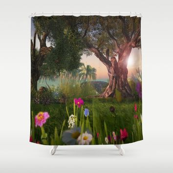 Multitude of Color Shower Curtain by Bella Luna Arts