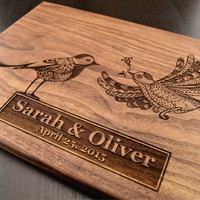 Engraved Cutting Board, Custom Wedding Gift, Personalized Chopping Block, Monogram Board, Anniversary Gift, Housewarming Gift, Hostess Gift