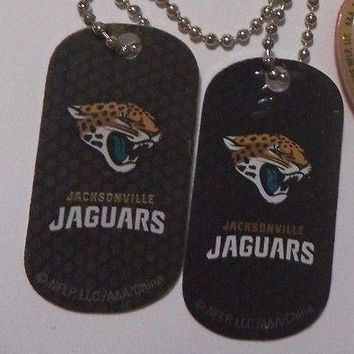 2 NFL Jacksonville Jaguars Logo Dog Tags Key chains backpacks party Gift