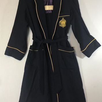 US Naval Academy Vintage Robe Academy Store Bath Smoking Robe Small