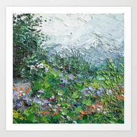 Alaskan Wildflowers Art Print by Ann Marie Coolick