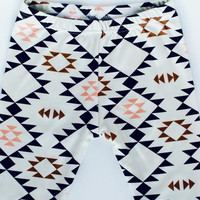 Organic baby leggings in navajo print, baby leggings,  baby pants, toddler leggings, toddler pants