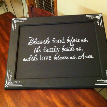 Bless this Food Before Us Wooden Wall Art Sign