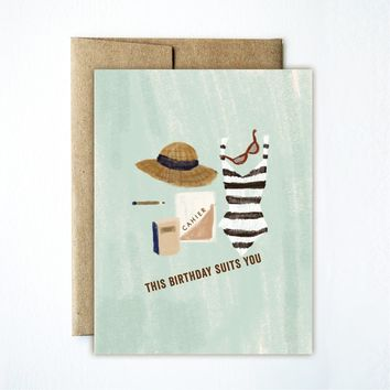 FERME A PAPERIE BIRTHDAY SUITS YOU CARD