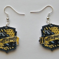 Harry Potter Hufflepuff Symbol Handmade Novelty Earrings
