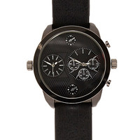 River Island MensBlack oversized watch