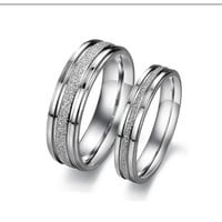 Titanium Rings his and hers Promise Rings, Polish Couple Rings Wedding Bands set, unique women's ring