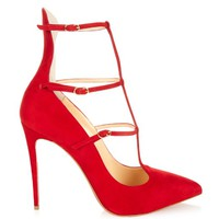 Toerless 100mm suede pumps | Christian Louboutin | MATCHESFASHION.COM US