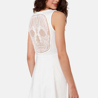 Laced With Poison Ivory Lace Dress