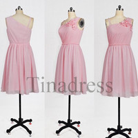 Custom Pink New Short Bridesmaid Dresses 2014 Prom Dresses Party Dresses Hot Homecoming Dress Wedding Party Dress Party Dress 2014