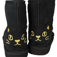 Yeees, I'm Wearing Cat Face Boots (Black)
