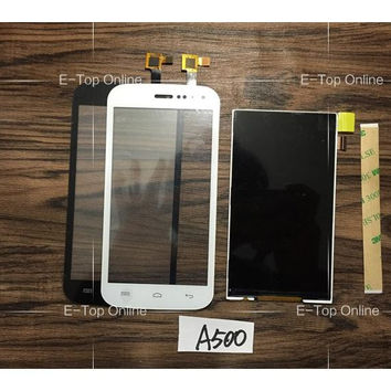 For Explay A500 SmartPhone LCD Display Screen/ Touch screen Digitizer Sensor + 3M Sticker free tracking